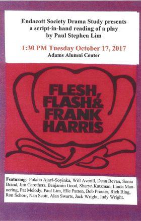 Playbill for Paul Lim Play: Flesh Flash & Frank Harris